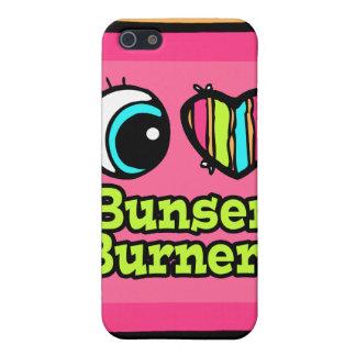 Bright Eye Heart I Love Bunsen Burners iPhone 5 Cases