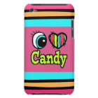 Bright Eye Heart I Love Candy iPod Touch Case