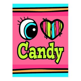 Bright Eye Heart I Love Candy Postcard