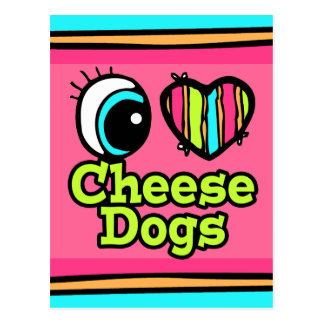 Bright Eye Heart I Love Cheese Dogs Post Card