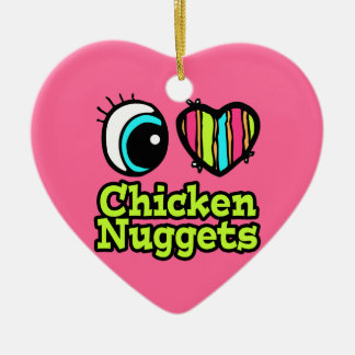 Bright Eye Heart I Love Chicken Nuggets Christmas Ornament