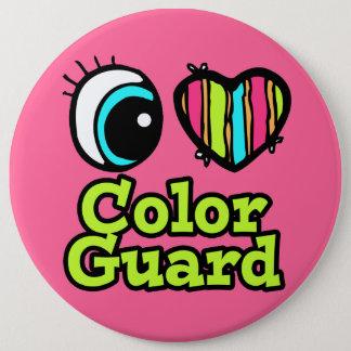 Bright Eye Heart I Love Color Guard 6 Cm Round Badge