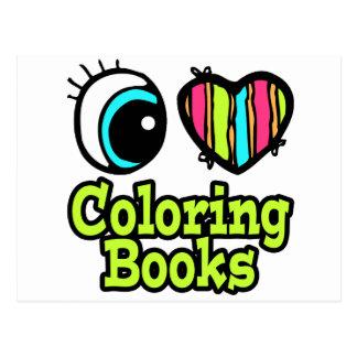 Bright Eye Heart I Love Coloring Books Postcard