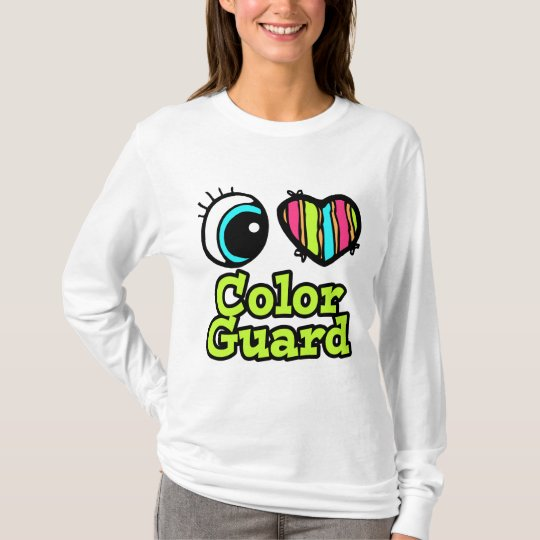 Bright Eye Heart I Love Colour Guard T-Shirt