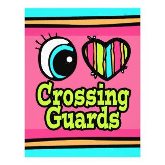 Bright Eye Heart I Love Crossing Guards 21.5 Cm X 28 Cm Flyer