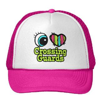 Bright Eye Heart I Love Crossing Guards Trucker Hat