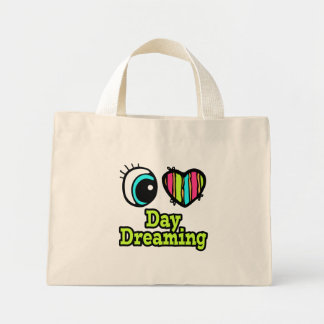 Bright Eye Heart I Love Day Dreaming Canvas Bag