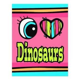 Bright Eye Heart I Love Dinosaurs Custom Flyer