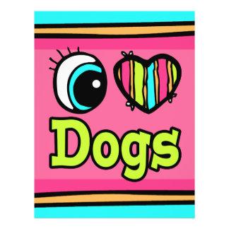 Bright Eye Heart I Love Dogs 21.5 Cm X 28 Cm Flyer