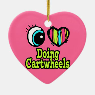 Bright Eye Heart I Love Doing Cartwheels Christmas Ornament