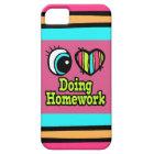 Bright Eye Heart I Love Doing Homework Case For The iPhone 5