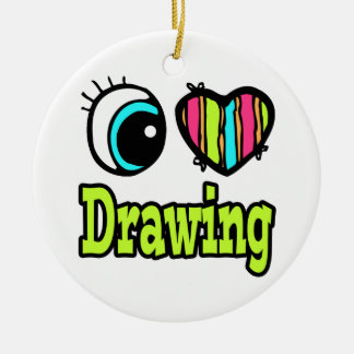 Bright Eye Heart I Love Drawing Christmas Ornament