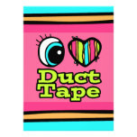 Bright Eye Heart I Love Duct Tape Personalised Invite