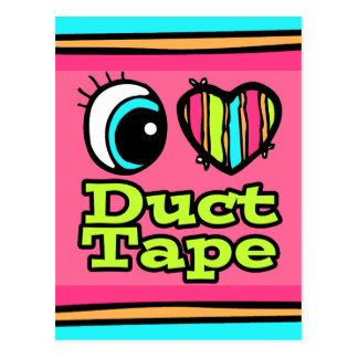 Bright Eye Heart I Love Duct Tape Postcard