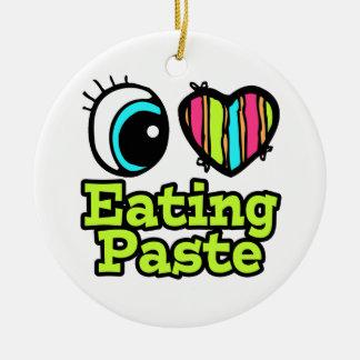 Bright Eye Heart I Love Eating Paste Ornament
