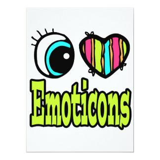 Bright Eye Heart I Love Emoticons 17 Cm X 22 Cm Invitation Card