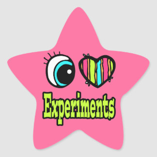 Bright Eye Heart I Love Experiments Stickers