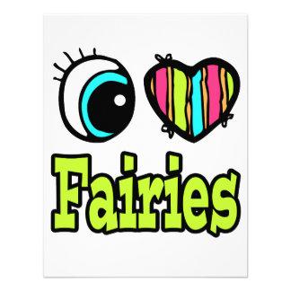 Bright Eye Heart I Love Fairies Custom Announcement