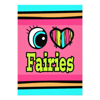Bright Eye Heart I Love Fairies Personalized Invitation