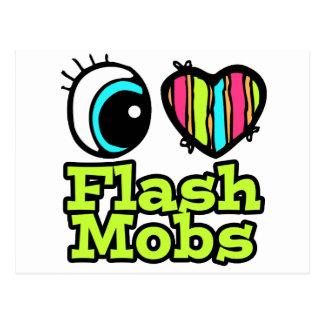 Bright Eye Heart I Love Flash Mobs Postcard