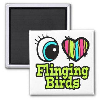Bright Eye Heart I Love Flinging Birds Magnets