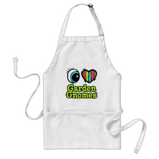 Bright Eye Heart I Love Garden Gnomes Standard Apron