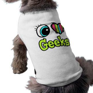 Bright Eye Heart I Love Geeks Sleeveless Dog Shirt