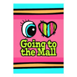 Bright Eye Heart I Love Going to the Mall Custom Invites
