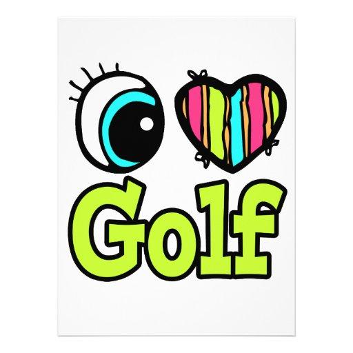 Bright Eye Heart I Love Golf Announcements
