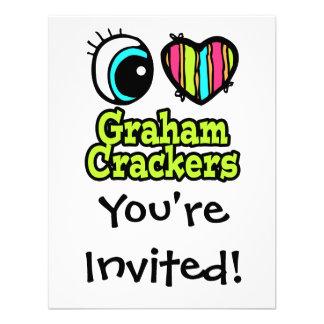 Bright Eye Heart I Love Graham Crackers Invitations