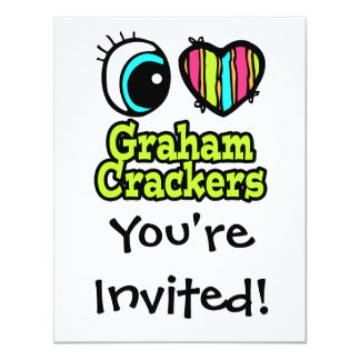 Bright Eye Heart I Love Graham Crackers Invitations