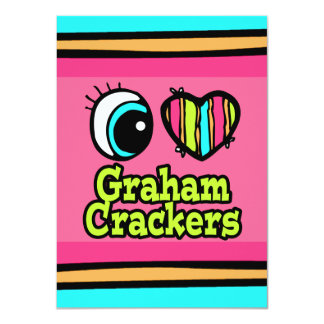 Bright Eye Heart I Love Graham Crackers Custom Announcement