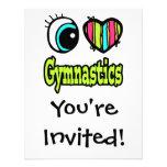 Bright Eye Heart I Love Gymnastics Personalised Announcement