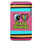 Bright Eye Heart I Love Hand Stands Barely There iPod Cover