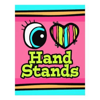 Bright Eye Heart I Love Hand Stands 21.5 Cm X 28 Cm Flyer