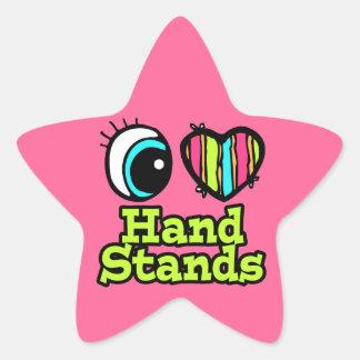 Bright Eye Heart I Love Hand Stands Sticker
