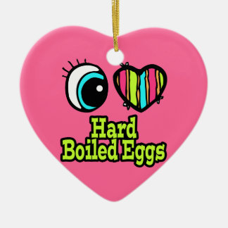 Bright Eye Heart I Love Hard Boiled Eggs Christmas Ornament