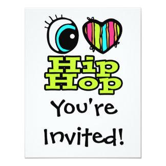 Bright Eye Heart I Love Hip Hop Card