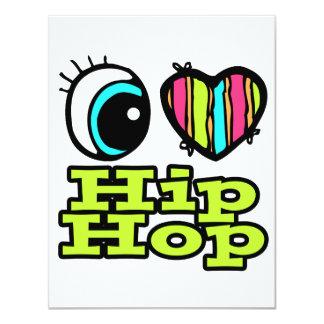 Bright Eye Heart I Love Hip Hop Invitations