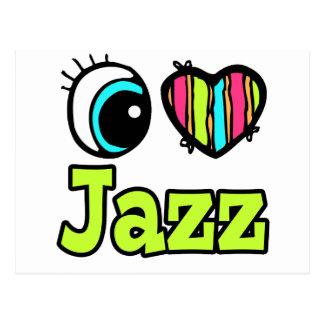Bright Eye Heart I Love Jazz Postcard