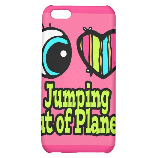 Bright Eye Heart I Love Jumping out of Planes Case For iPhone 5C