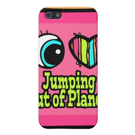 Bright Eye Heart I Love Jumping out of Planes Cases For iPhone 5