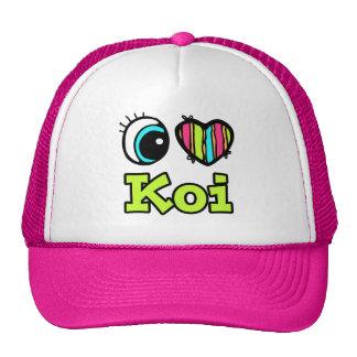 Bright Eye Heart I Love Koi Hat