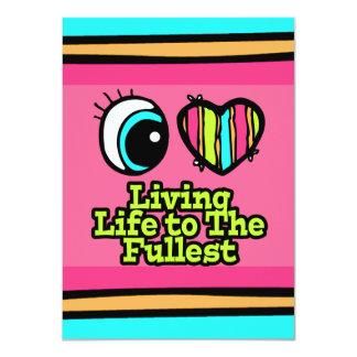 Bright Eye Heart I Love Living Life to the Fullest 11 Cm X 16 Cm Invitation Card