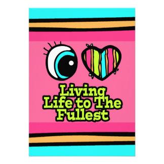 Bright Eye Heart I Love Living Life to the Fullest Custom Invitation