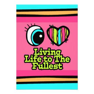 Bright Eye Heart I Love Living Life to the Fullest Invitation