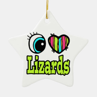 Bright Eye Heart I Love Lizards Christmas Ornament