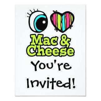 Bright Eye Heart I Love Mac and Cheese 11 Cm X 14 Cm Invitation Card