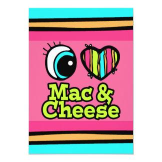 Bright Eye Heart I Love Mac and Cheese 13 Cm X 18 Cm Invitation Card