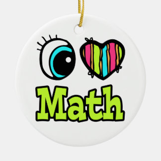 Bright Eye Heart I Love Math Christmas Ornament